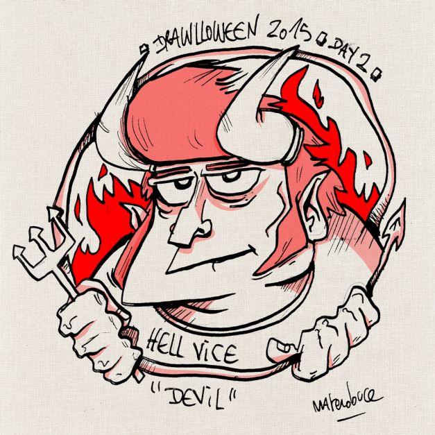 Drawlloween #02 - Devil