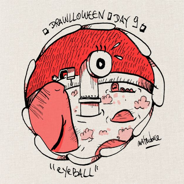 Drawlloween #09 - Eyeball oeil periscope