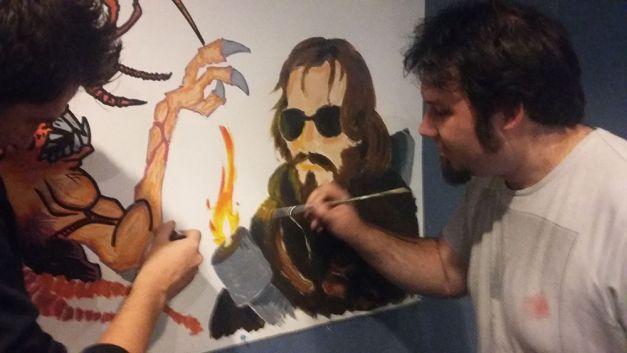 Fresque The Thing à la soirée Carpenter 03
