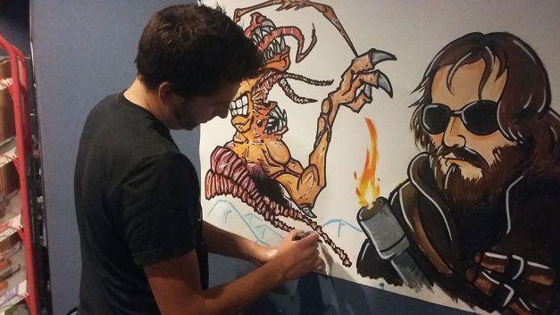 Fresque The Thing à la soirée Carpenter 06