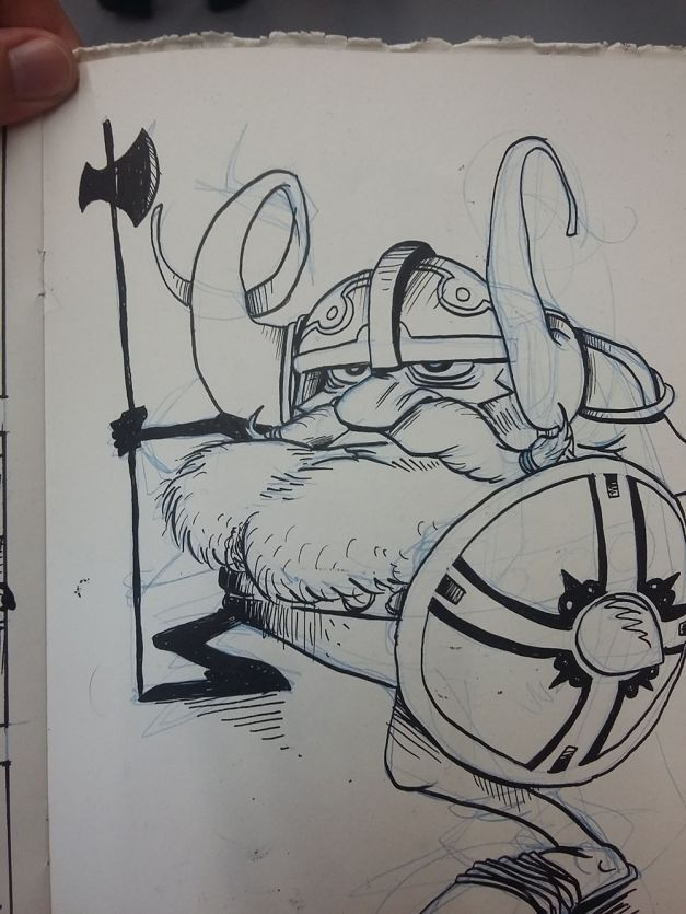 Vikings - Character Design Challenge WIP 02