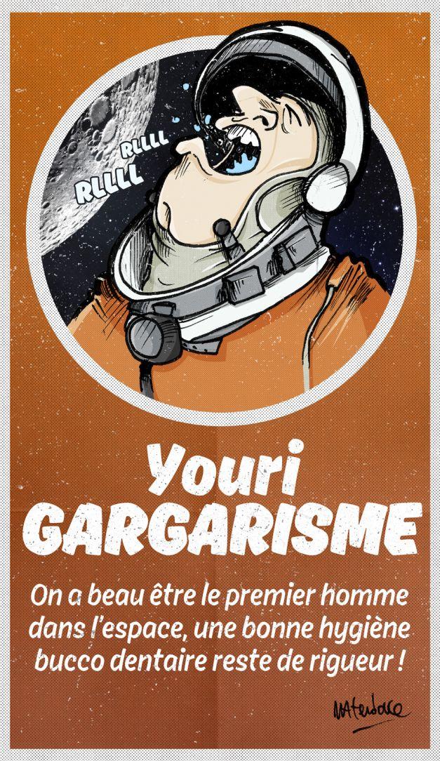 Youri Gagarine Gargarisme dessin
